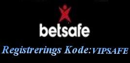 Betsafe Registrerings Kode VIPSAFE